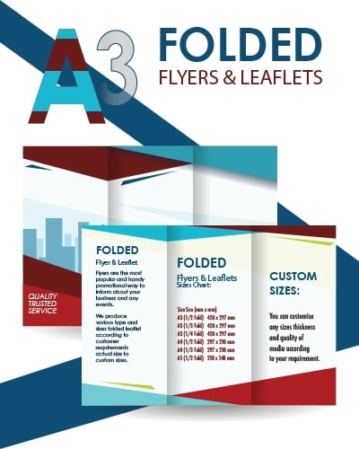 A3 Folded Flyer & Leaflet | HRJ Media - Instant & Same Day
