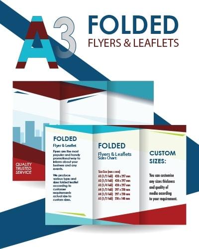 A3 Folded Flyer Amp Leaflet Hrj Media Instant Amp Same Day